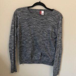 Gray Striped Long Sleeve